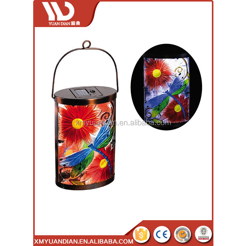 Low Price Decoration Lighting Glass Led Lantern Solar Light