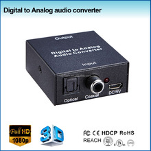 mini spdif to 5.1 converter box, 2XRCA R/L audio output, converter digital to analog for tv