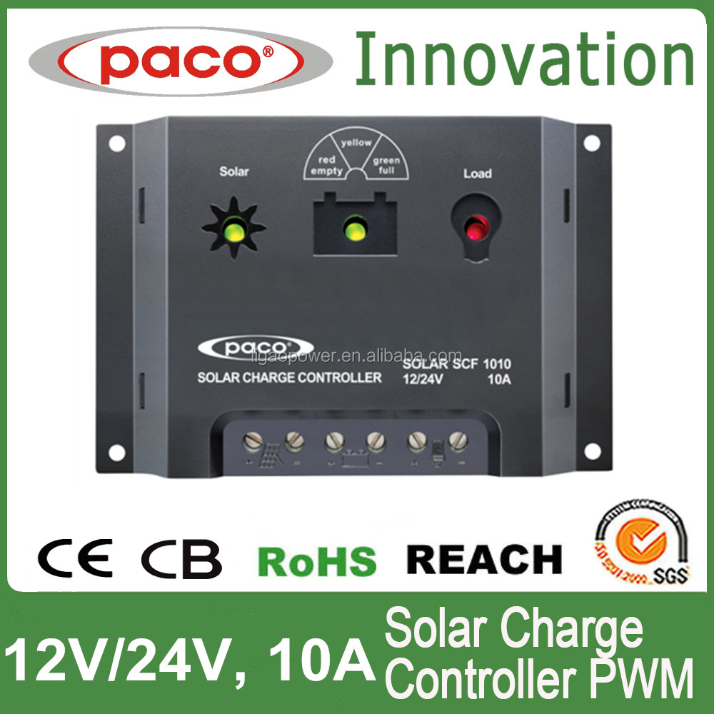 Plastic outback solar charge controller 10Amp 12volt 24volt solar charge controller schematic with PWM output regulation