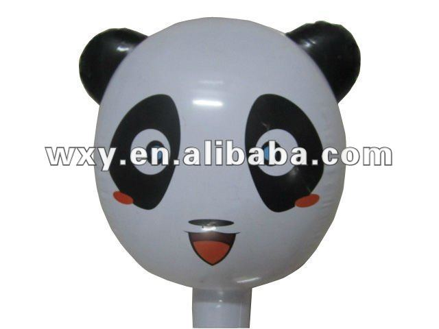 Cheap Price and High Quality Inflatable PVC Panda Stick,Animal Toys for Kids
