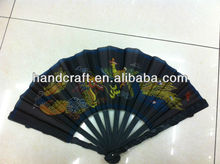 black fold figure fans with cheap price for promotional