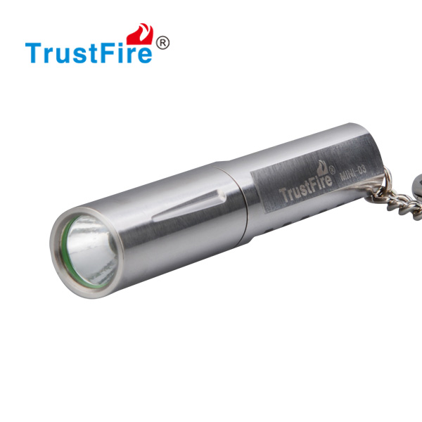 trustfire MINI-<strong>03</strong> 200lumens stainless steel keychain led mini flashlight with 1pcs 10440 battery