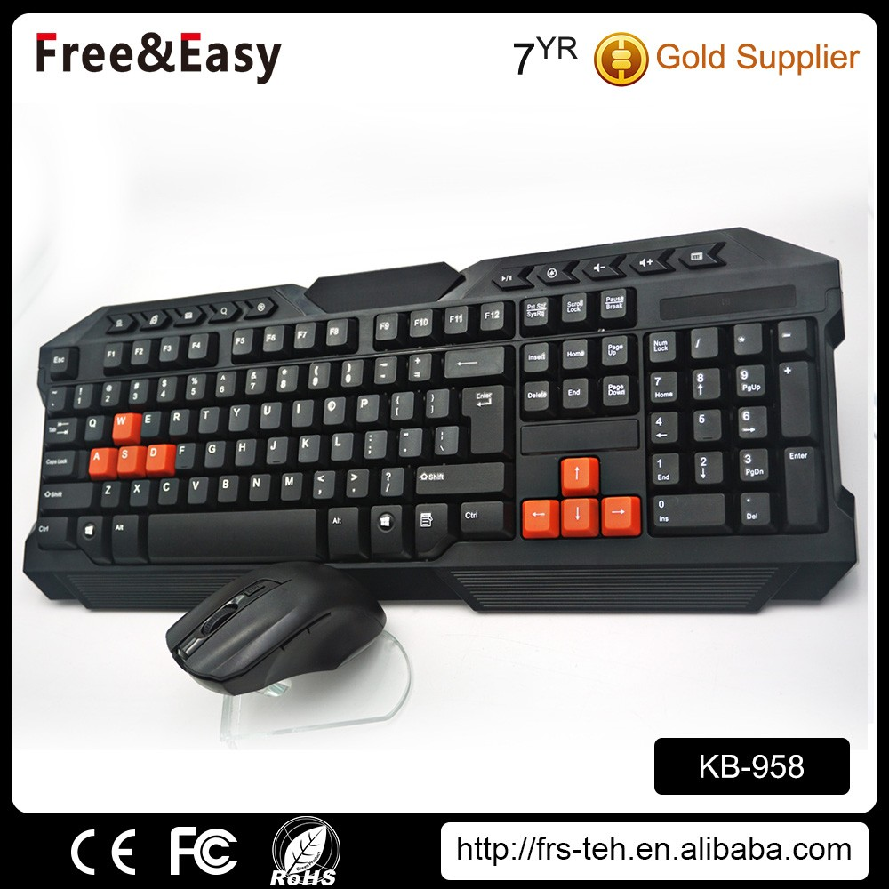 High quality supplier gaming teclado gamer cheap wireless keyboard and mouse