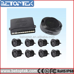 Betoptek Car Parking Sensors Reverse Radar Buzzing Alert ar System with Black Ultrasonic Sensor Price