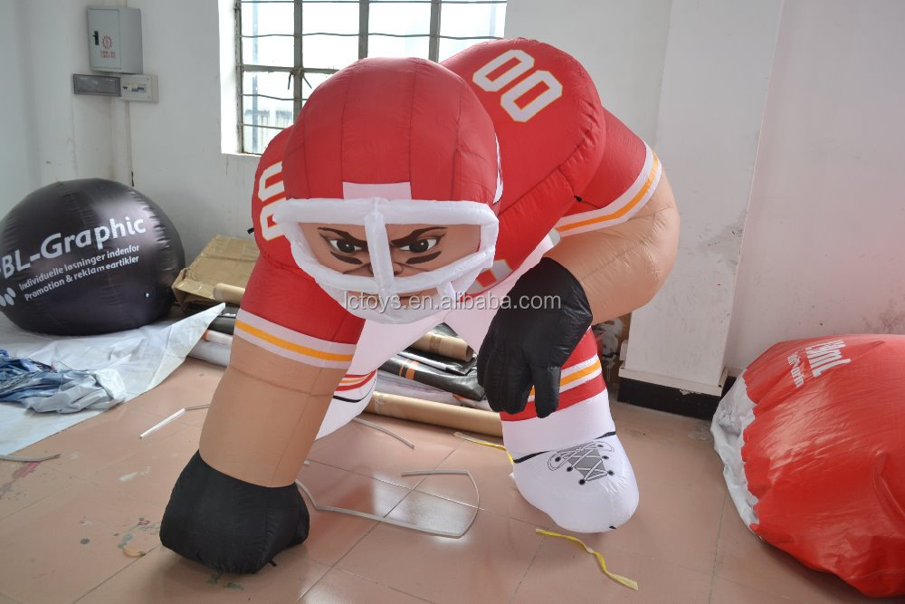 Hot sales Promotion inflatable man ,giant inflatable rugby man inflatable product