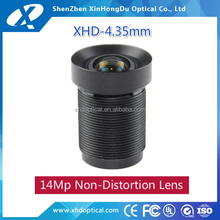 China lenses manufacture 1/2.3 inch megapixel fixed f2.0 m12 4.35mm GO PROcamera lens