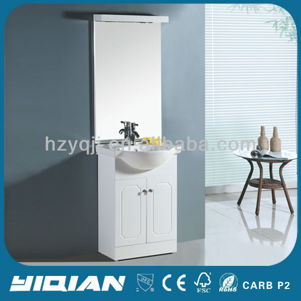 hot sell corner bathroom furniture free standing bathroom vanity white PVC corner bathroom cabinet