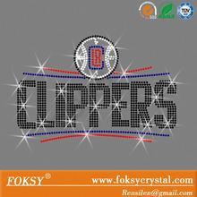 Rhinestone Transfer LA Clippers NEW Logo Hotfix Iron On