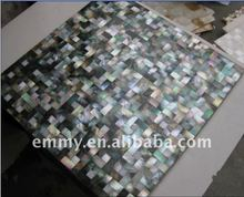 Natural black mother of pearl oyster seashell mosaic wall tile