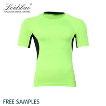 2018 fitness men compression wear fashion dry fit t shirt for gym training