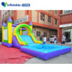 Kids play Inflatable jumping bouncer castle with water slide and water pool