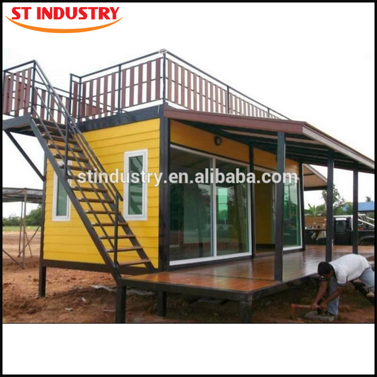 Special designed and modern prefabricated sandwich panel prefab shipping container house for sale