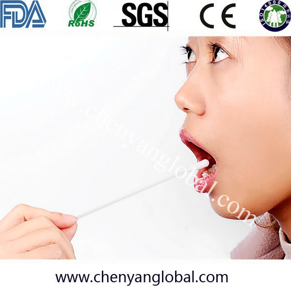 Free Sampls High Quality Throat Collection Transport Mouth Test Swab With Nylon Flock Cotton Rayon Cotton