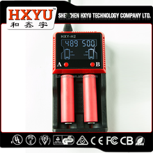 hxy L2 3.7V Li-ion battery charger for 18650 battery with lcd display