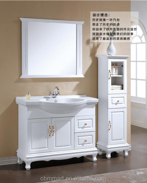 Bathroom Vanity Single Basin Mirror Vanity Wood Bathroom Vanity ...