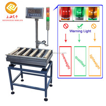 Hot sound and alarm warning digital roller check weight, conveyor belt weighing scale