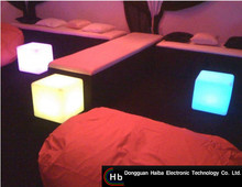Floding color changing led cube home furniture Led fancy living room furniture led chairs bd picture