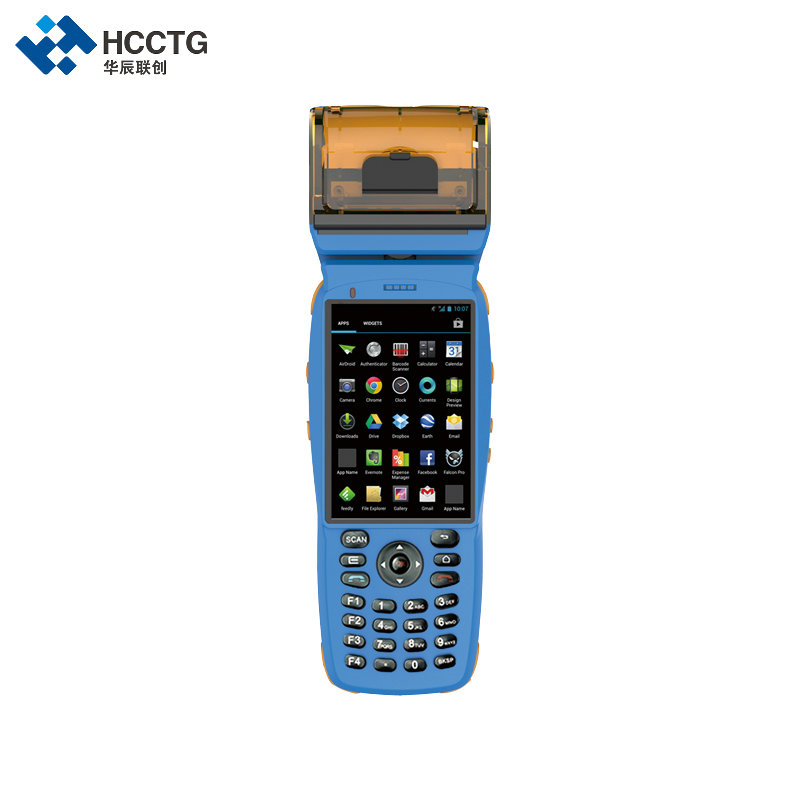 3G GPRS Bluetooth Rugged Handheld Wifi PDA With Printer Android HPC3502