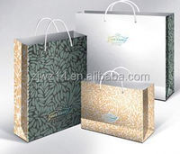 orange kraft paper bags/ shopping paper bag wholesale xiamen/ oem production customized handle paper gift bag&gift paper bag