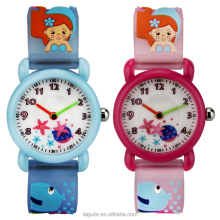 3D Cute Cartoon Silicone Wristwatches Time Teacher Gift for Little Girls Boy Kids watches