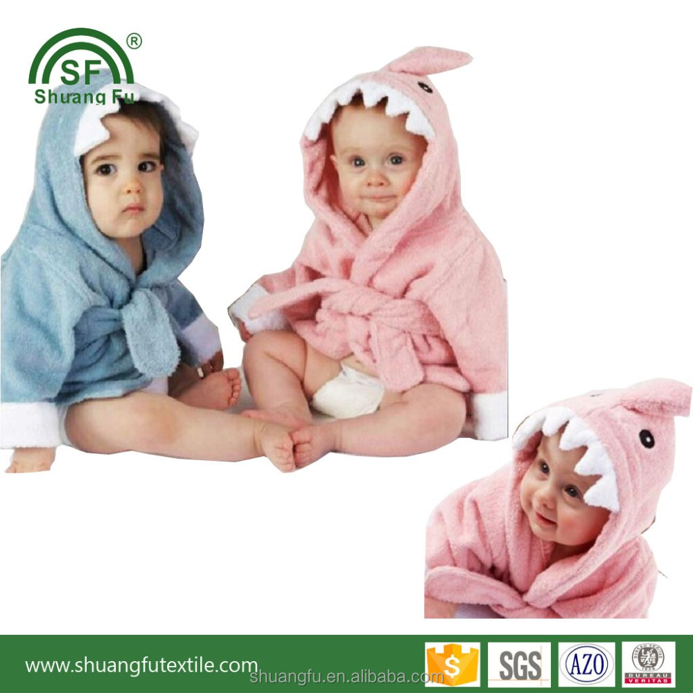 Hot selling kids disposable bath robes bathing hooded towel for kids