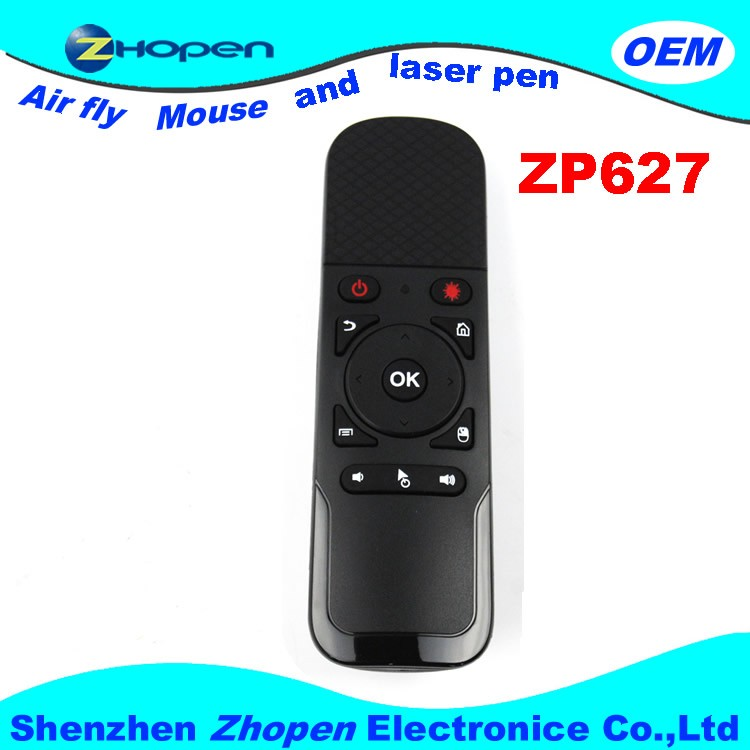 TV Universal zp627 Remote Control With Laser Pointer Wireless Air Mouse For Projector,Tv,TV box