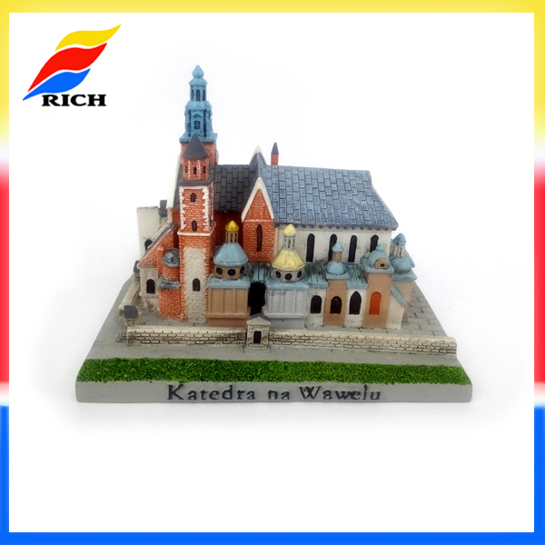 Cheap items custom resin miniature replica building model souvenir and gifts