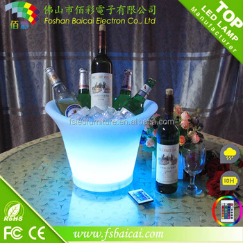 Non-friable LED Bottle Wine Plate/LED Bottle Holder/led ice bucket