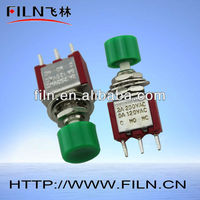 High Quality Momentary Push Button Switch Green Color 3 Feet 2A 250V/5A 120V
