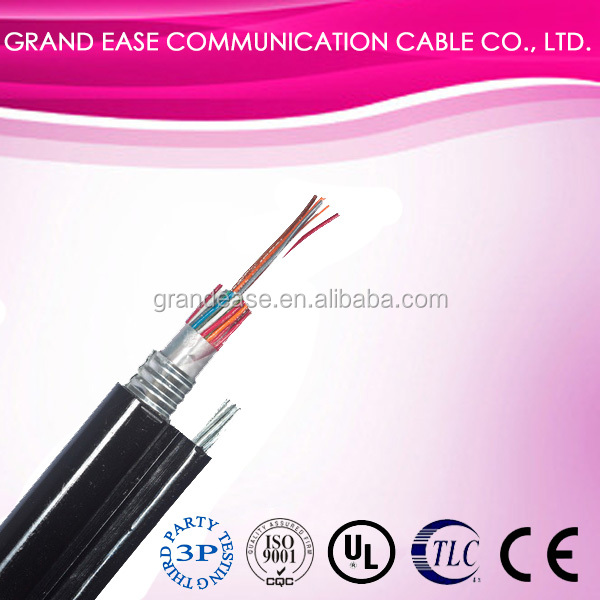 Aerial telephone cable HYATC jelly filled telecommunication cable