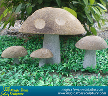 decorative garden ornaments of stone mushrooms