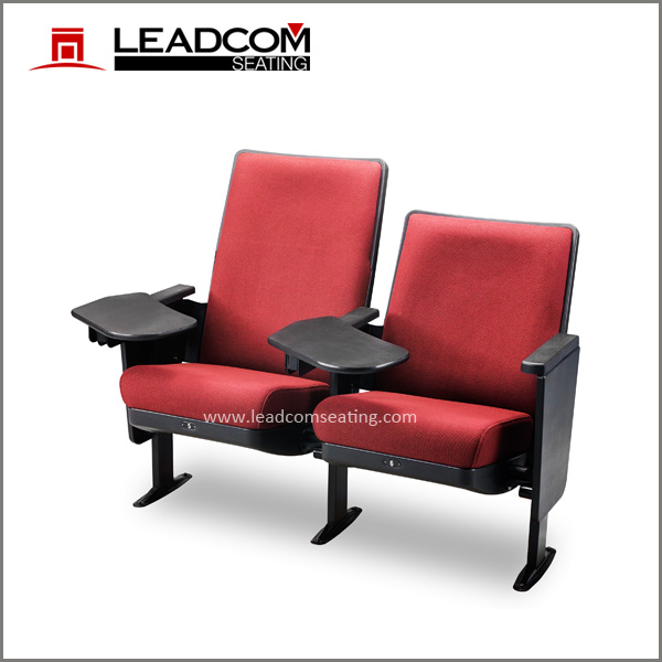 Leadcom high back auditorium chair and desks with writing tablet for school lecture (LS-13601NC)