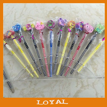 cute pencil with eraser cute HB pencil with lovely animal shape eraser