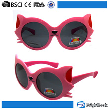 Top selling soft plastic cool cute round cateye childrens kids polarized sunglasses vintage for kids