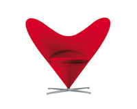 European Heart Chair Fabric Stainless Steel Base Heart Shaped Chairs Replica designed by Verner 2015 Latest Design Lounge Chair