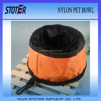 portable nylon pet water bowl for travel