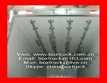 Isolated truck body, Refrigerated TRUCK BODY, Meat transport truck body