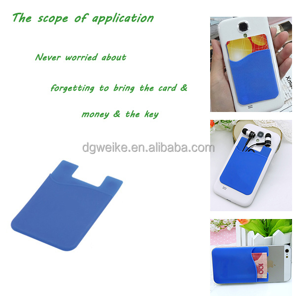 Hot Sale Silicone Cell Phone Case, Silicone Phone Card Pocket Smart Case for Metro Card