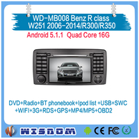car radio player for Benz R class W251 2006 2007 2008 2009 2010 2011 2012 2013 2014/R300/R350 gps navigation dashboard dvd swc