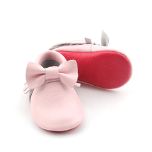 Genuine leather shoes wholesale red bottom shoes baby handmade moccasins