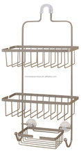 high quality bathroom hanging 3 tiers Shower Caddy and corner pole caddy