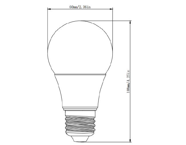 led a19 bulb ul certified 360 degree led bulb e26 110v a19