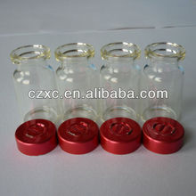 Red Standard Aluminum Vial Seals with Center Tear Out