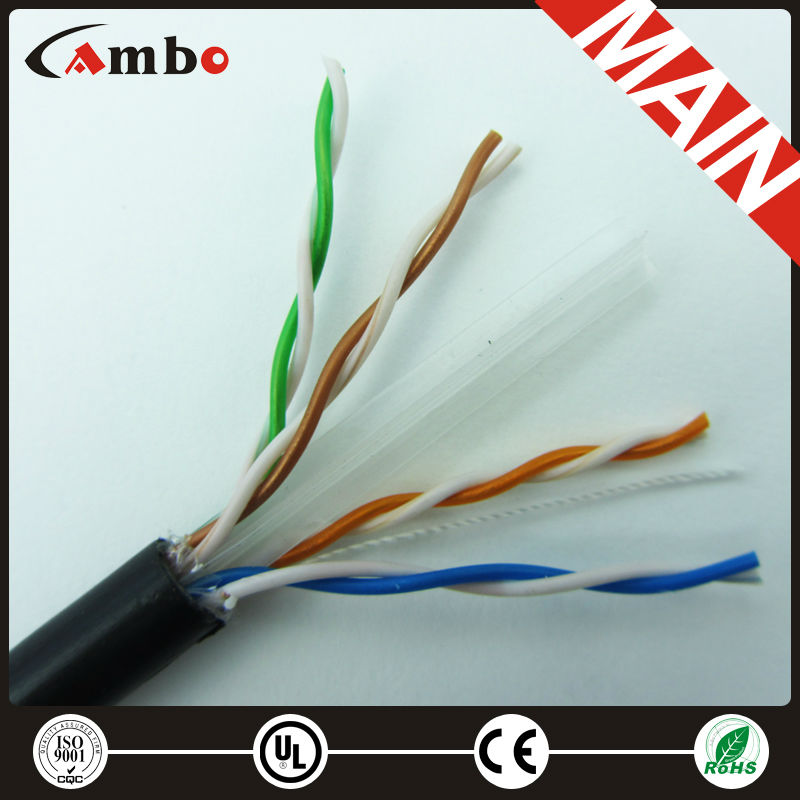 High Quality Outdoor Double Sheath Cable cat6 lan cable 4*2*0.57mm