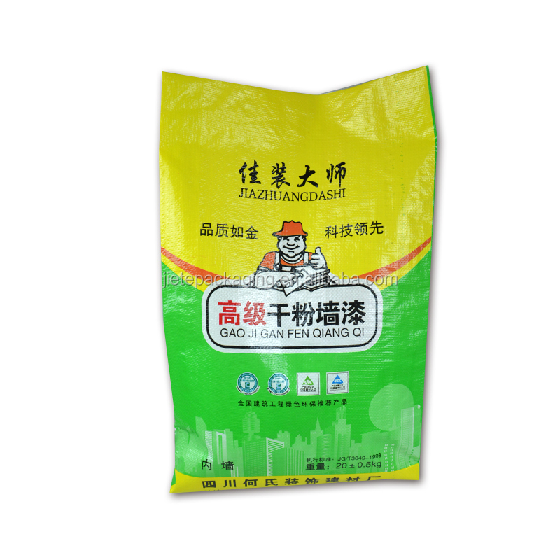 50kg 20kg cement pp woven bag size with color printing