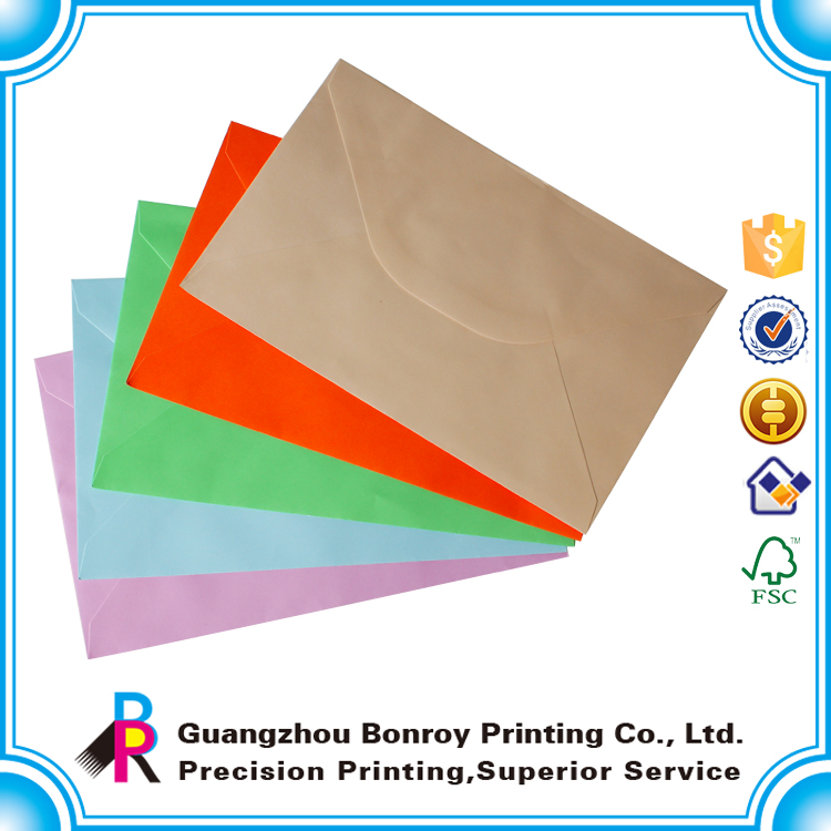 Fancy Paper Small Nice Colorful Envelope Wallet Printing in Guangzhou