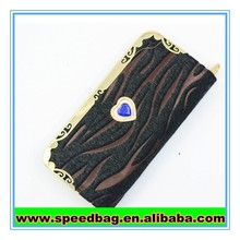 Wallet with lots pocket Zebra bag female wallet cheap card wallet