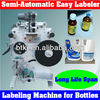 Semi Automatic Round Bottle Labeling Machine in Stocks,Semi Auto Labeler Machine for Kinds of Round Bottles with Cheap Price