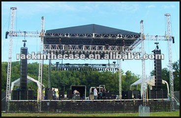 10m*10m*8m event stage roof truss system with PA system