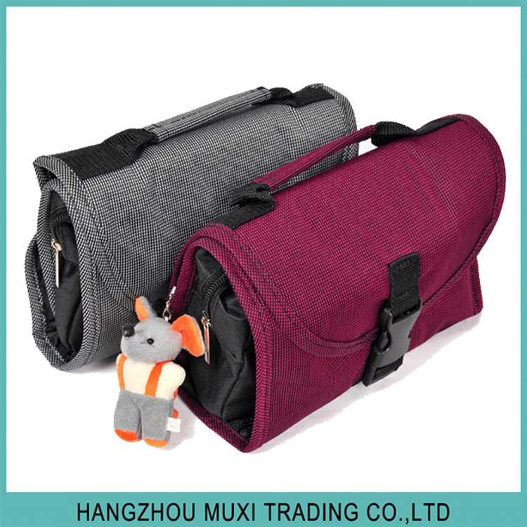stylish canvas travel cosmetic wash bag for men